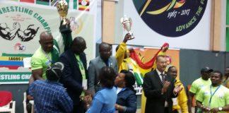 Engr Douglas Dickson recieveing trophy