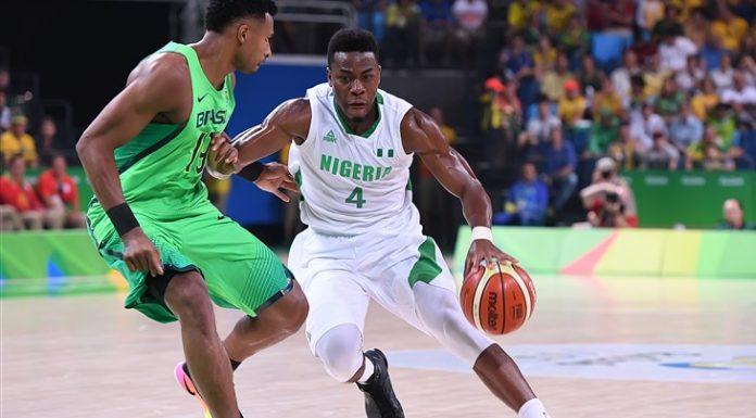 4 Ben Uzoh (NGR) - Nigeria v Brazil, 2016 Olympic Games: Tournament for Men (BRA), Rio de Janeiro - Carioca Arena 1 (Brazil), Group Phase, 15 August 2016