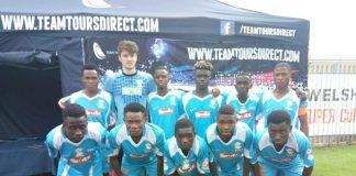 Buruj sports academy team pre-match line up photograph session