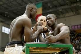 an arm wrestling battle