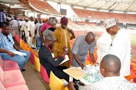 Delegates voting in the sports federations elections in abuja