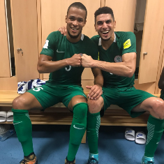 Super Eagles Balogun and Ekong