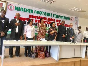 Super falcons coach Thomas Dennerby's unveiling