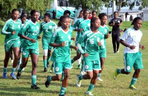 Super falcons in training