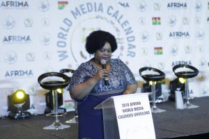 Head of Culture, African Union Commission, Mrs. Angela Martins delivering remark