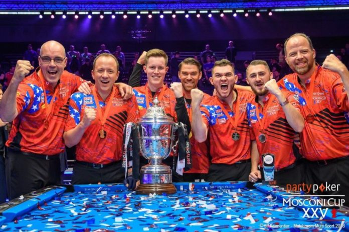 TEAM USA at 2018 Mosconi Cup